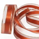 Bronze Metallic Edge Ribbon