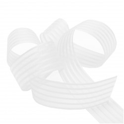 White Woven Stripe Ribbon