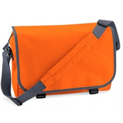 Orange School Messenger Bags