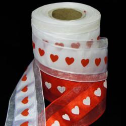 Organza Heart Ribbon