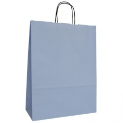 320mm Baby Blue Twisted Handle Paper Carrier Bags