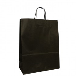240mm Black Twisted Handle Paper Carrier Bags