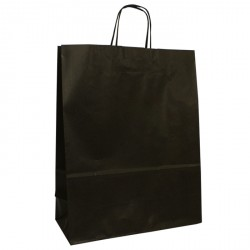 320mm Black Twisted Handle Paper Carrier Bags