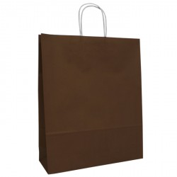 320mm Chocolate Twisted Handle Paper Carrier Bags
