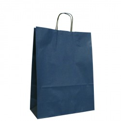 240mm Dark Blue Twisted Handle Paper Carrier Bags