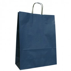 320mm Dark Blue Twisted Handle Paper Carrier Bags