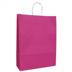320mm Fuchsia Twisted Handle Paper Carrier Bags