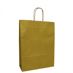 220mm Gold Twisted Handle Paper Carrier Bags