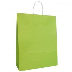 320mm Lime Twisted Handle Paper Carrier Bags