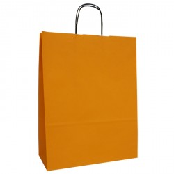 320mm Orange Twisted Handle Paper Carrier Bags