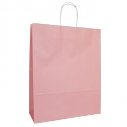 320mm Pastel Pink Twisted Handle Paper Carrier Bags