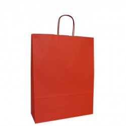 220mm Red Twisted Handle Paper Carrier Bags