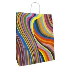 70s Design Twisted Handle Paper Carrier Bag