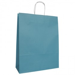 320mm Turquoise Twisted Handle Paper Carrier Bags