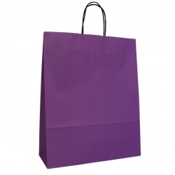 320mm Violet Twisted Handle Paper Carrier Bags