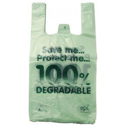 11x17x21in Eco Polythene Vest Carrier Bags