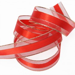 Red Metallic Edge Ribbon