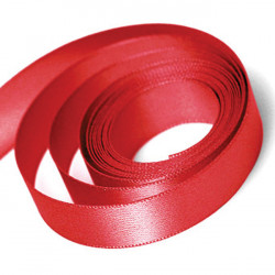 Red Double Faced Satin Ribbon