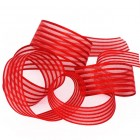 Red Woven Stripe Ribbon