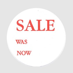 Sale Was Now Label