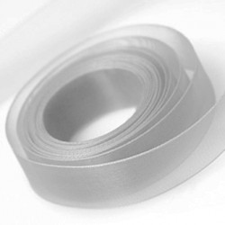 Silver Chiffon Ribbon