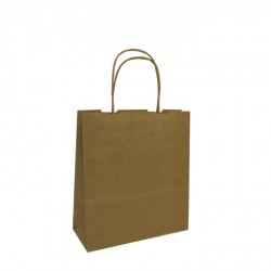 180mm Brown Twisted Handle Paper Carrier Bags