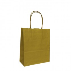 180mm Gold Twisted Handle Paper Carrier Bags