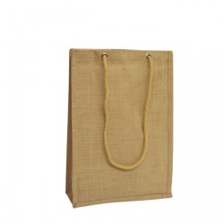 280mm Natural Jute Bags Rope Handles