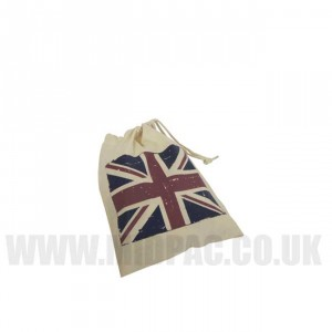 Small Union Jack Drawstring Bags
