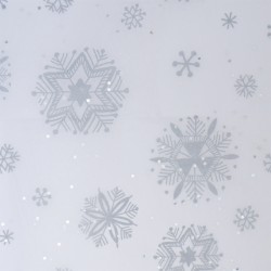 Silver Snowflake Tissue Paper
