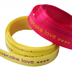 Cupcake Love Printed Ribbon