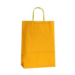 220mm Yellow Paper Carrier Bags Twisted Handles
