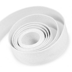 Cotton Twill Ribbon White