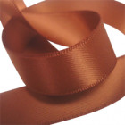 15mm Coffee Double Faced Satin Ribbon
