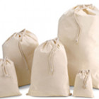 140mm Natural Cotton Drawstring Bags