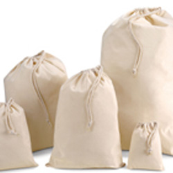 250mm Natural Cotton Drawstring Bags