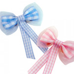 Chiffon Gingham Ribbon Bows