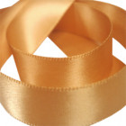 15mm Old Gold Double Faced Satin Ribbon
