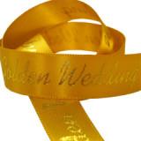 Golden Wedding Printed Ribbon