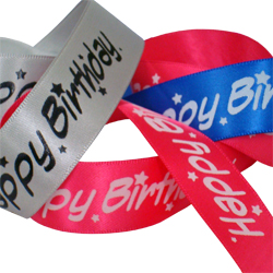 Happy Birthday Printed Ribbon