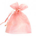 Pastel Pink Organza Bags