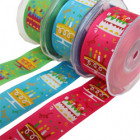 Wire Edge Happy Birthday Ribbon