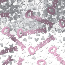 Pink Christening Table Confetti
