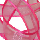 Shocking Pink Elegance Organza Ribbon