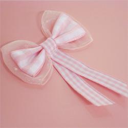 Baby Pink Gingham Bows