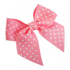Baby Pink Spotty Grosgrain Bows