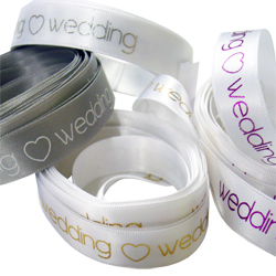 Printed Wedding Ribbon