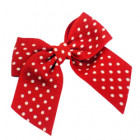Red Spotty Grosgrain Bow