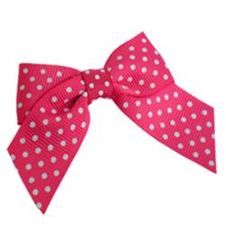 Shocking Pink Spotty Grosgrain Bows