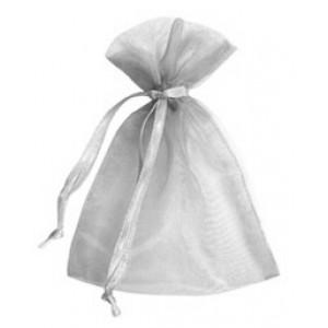 Silver Organza Bags